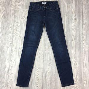 Paige 25 dark wash verdugo ankle skinny jeans